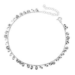 Gumush - Gümüş Kristal Taşlı Halhal