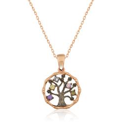 Gumush - Gümüş Küçük Hayat Ağacı Bayan Kolye