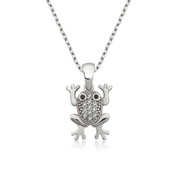 Gumush - Gümüş Kurbağa Bayan Kolye