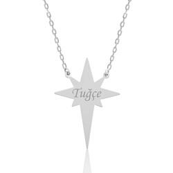 Gumush - Gümüş Kutup Yıldızı İsimli Bayan Kolye