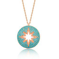 Gumush - Gümüş Mavi Kutup Yıldızı Bayan Kolye