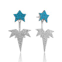 Gumush - Gümüş Kutup Yıldızı Sihirli Küpe (1)