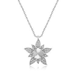 Gumush - Gümüş Lotus Çiçeği Bayan Kolye