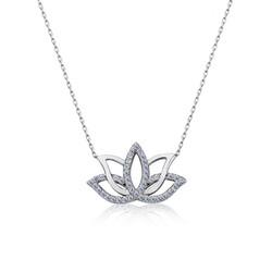 Gumush - Gümüş Lotus Çiçeği Kolye