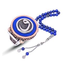 Gumush - Gümüş Mavi Abanoz Vav Erkek Yüzük