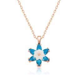 Gumush - Gümüş Mavi Lotus Çiçeği Kolye