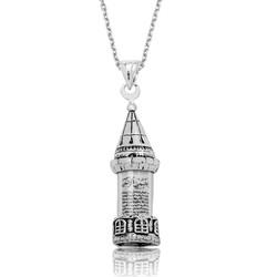 Gumush - Gümüş Minareli Cevşen Bayan Kolye