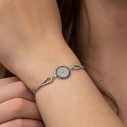 Gümüş Nazar Bayan Bileklik - Thumbnail