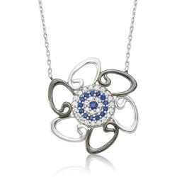 Gumush - Gümüş Nazarlı Vav Bayan Kolye