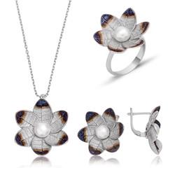 Gumush - Gümüş Nergis Çiçeği Bayan Set