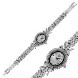Gumush - Gümüş Çiçekli Zirkon Bayan Saat