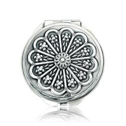 Gumush - Gümüş Papatya Motifli Kapaklı Ayna