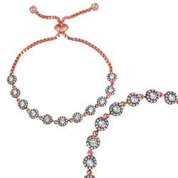 Gumush - Gümüş Elmas Montür Bayan Asansörlü Bileklik