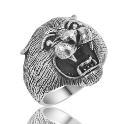 Gumush - Gümüş Puma Kafası Erkek Yüzük