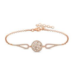 Gumush - Gümüş Rose Baget Taşlı Bileklik