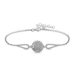 Gumush - Gümüş Rodyum Baget Taşlı Sonsuzluk Bileklik