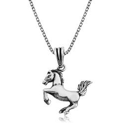 Gumush - Gümüş Şahlanmış At Kolye