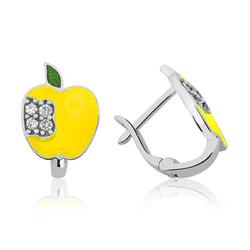 Gumush - Gümüş Sarı Elma Çoçuk Küpesi