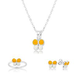Gumush - Gümüş Sarı Kelebek Çocuk Set