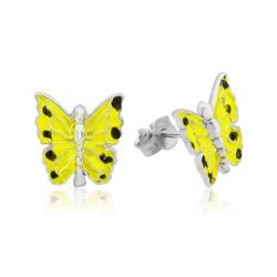 Gumush - Gümüş Sarı Kelebek Çocuk Küpesi