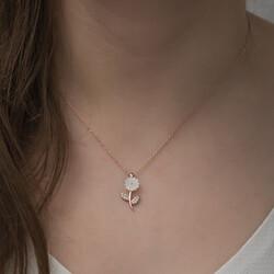 Gumush - Gümüş Sedef Çiçek Kolye (1)