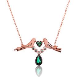 Gumush - Gümüş Sevgi Kuşu Bayan Kolye