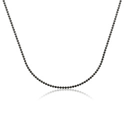 Gumush - Gümüş Siyah Küçük Top Zincir