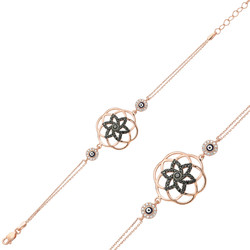 Gumush - Gümüş Yaşam Çiçeği Bayan Bileklik