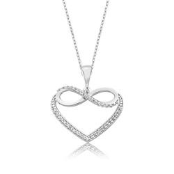 Gumush - Gümüş Kalpli Sonsuzluk Bayan Kolye