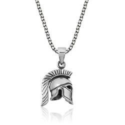 Gumush - Gümüş Şovalye Miğfer Kolye