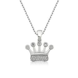 Gumush - Gümüş Taç Bayan Kolye