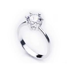 Gumush - Gümüş Tek Taş Bayan Yüzük
