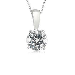 Gumush - Gümüş Tek Taş Bayan Kolye