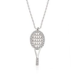 Gumush - Gümüş Tenis Raketi Bayan Kolye