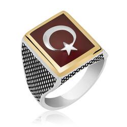 Gumush - Gümüş Teşkilat Dizisi Türk Bayrağı Yüzük