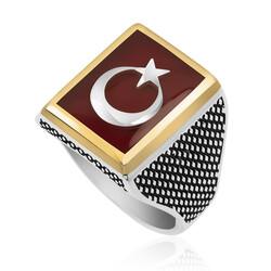 Gumush - Gümüş Teşkilat Dizisi Türk Bayrağı Yüzük (1)