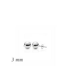 Gumush - Gümüş Top Küpe - 3 mm (1)