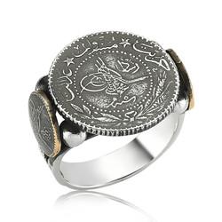 Gumush - Gümüş Tuğralı Erkek Yüzük