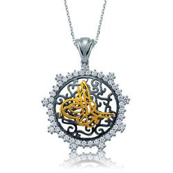 Gumush - Gümüş Taşlı Tuğra Bayan Kolye