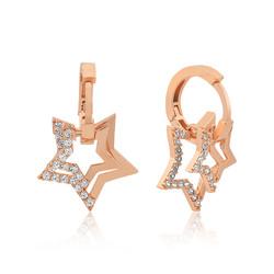 Gumush - Gümüş Üç Boyutlu Yıldız Küpe