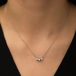 Gumush - Gümüş Üç Yıldız Kolye (1)