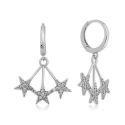 Gumush - Gümüş Üç Yıldızlı Küpe