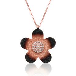 Gumush - Gümüş Unutma Beni Çiçeği Bayan Kolye