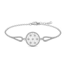 Gumush - Gümüş Yaşam Çiçeği Bileklik
