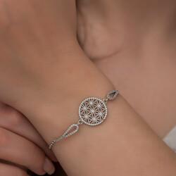 Gumush - Gümüş Yaşam Çiçeği Bileklik (1)