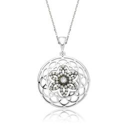 Gumush - Gümüş Yaşam Çiçeği Bayan Kolye