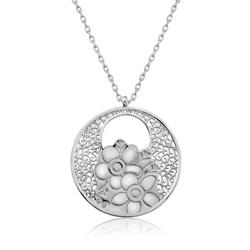 Gumush - Gümüş Yaşam Çiçeği Kolye