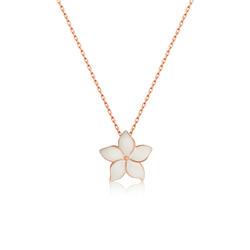 Gumush - Gümüş Yasemin Çiçeği Bayan Kolye