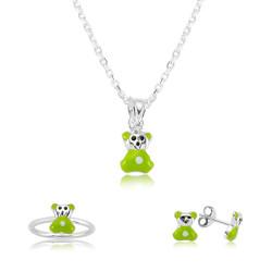 Gumush - Gümüş Yeşil Ayıcık Çocuk Set