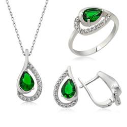 Gumush - Gümüş Yeşil Drop Bayan Set